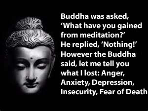 Buddhas answer for meditation